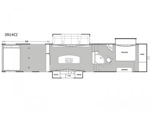 Iconic Garage 3914CI Floorplan Image