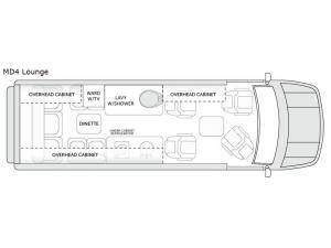 American Patriot MD4 Lounge Floorplan Image