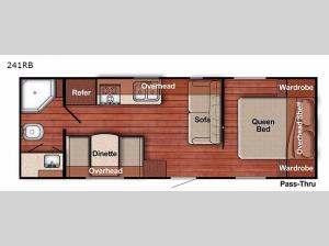 Kingsport Ultra Lite 241RB Floorplan Image