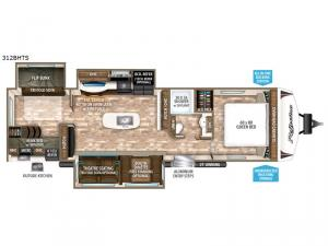 Reflection 312BHTS Floorplan Image