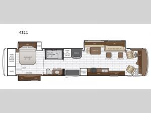 Dutch Star 4311 Floorplan Image