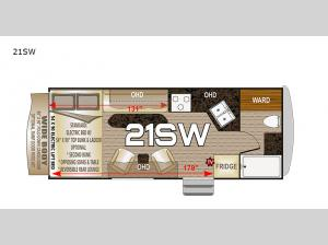 Desert Fox 21SW Floorplan Image