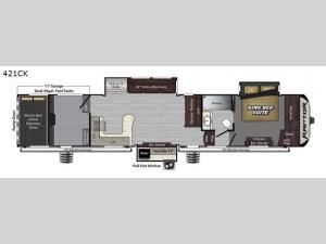 Raptor 421CK Floorplan Image
