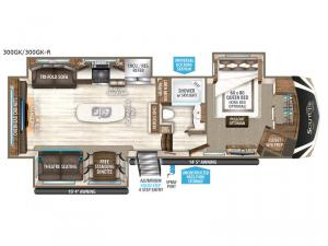 Solitude 300GK R Floorplan Image