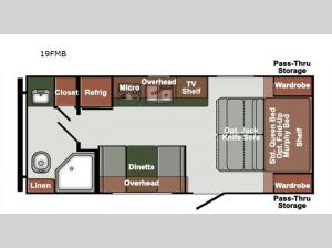 Northern Express SVT 19FMB Floorplan Image