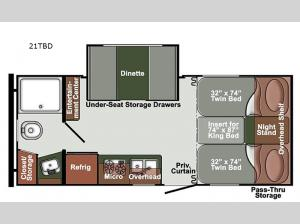 Northern Express SVT 21TBD Floorplan Image