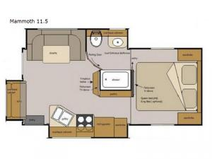 Host Campers Mammoth 11.5 Floorplan Image