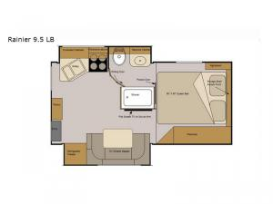 Host Campers Rainier 9.5 LB Floorplan Image