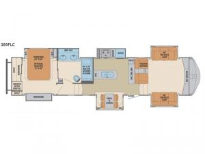 Columbus Compass 389FLC Floorplan Image