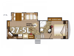 Arctic Silver Fox Edition 27-5L Floorplan Image