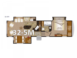 Arctic Silver Fox Edition 32-5M Floorplan Image