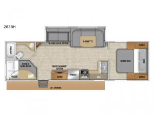 Launch Outfitter 283BH Floorplan Image