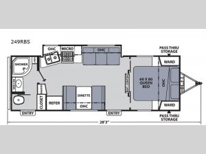 Apex Ultra-Lite 249RBS Floorplan Image