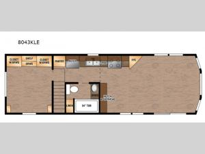 Lakeside LE Series 8043KLE Floorplan Image