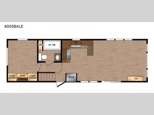 Lakeside LE Series 8005BALE Floorplan Image