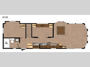 Lakeside Series 8136 Floorplan Image