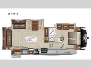 Eagle HT 28.5RSTS Floorplan Image