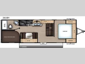 Catalina Summit Series 8 261BH Floorplan Image