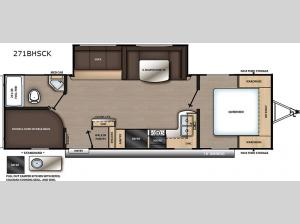 Catalina Summit Series 8 271BHSCK Floorplan Image