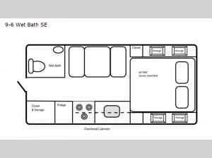 Special Edition Series 9-6 Wet Bath SE Floorplan Image