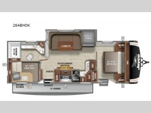 Eagle HT 264BHOK Floorplan Image