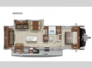 Eagle HT 280RSOK Floorplan Image