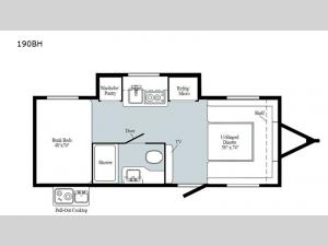 Minnie Drop 190BH Floorplan Image