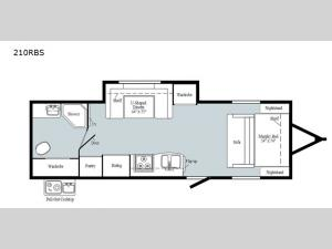 Minnie Drop 210RBS Floorplan Image