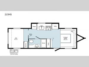 Minnie Drop 215HS Floorplan Image