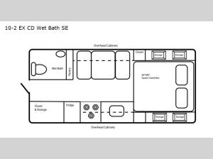 Special Edition Series 10-2 EX CD Wet Bath SE Floorplan Image