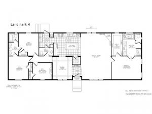 Double Section Landmark 4 Floorplan Image