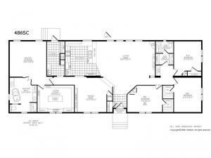 Double Section 486 SC Floorplan Image