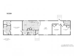 Single Section HD 384 Floorplan Image