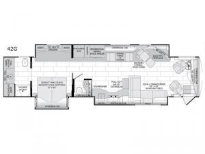 American Dream 42G Floorplan Image