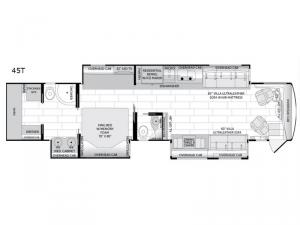 American Dream 45T Floorplan Image