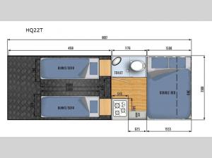 Black Series Camper HQ22T Floorplan Image