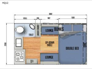 Black Series Camper HQ12 Floorplan Image