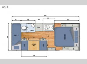 Black Series Camper HQ17 Floorplan Image