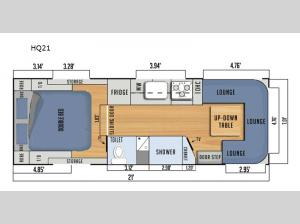Black Series Camper HQ21 Floorplan Image