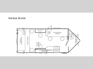 Ice Castle Fish Houses Walleye Stryker Floorplan Image