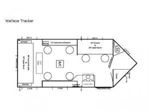 Ice Castle Fish Houses Walleye Tracker Floorplan Image