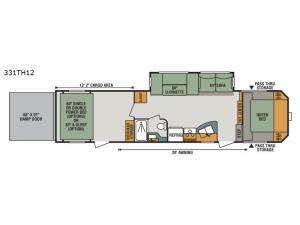Sportster 331TH12 Floorplan Image