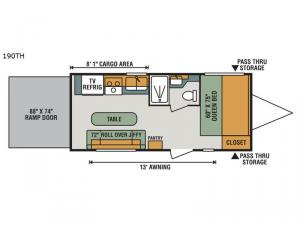 Sportster 190TH Floorplan Image