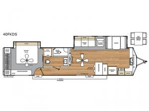Catalina Destination Series 40FKDS Floorplan Image