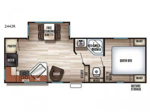 Cherokee 244JR Floorplan Image