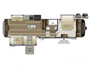 Cougar 311RES Floorplan Image