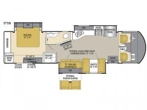 Mirada Select 37SB Floorplan Image