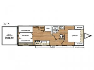 Catalina Trail Blazer 22TH Floorplan Image