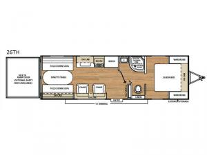 Catalina Trail Blazer 26TH Floorplan Image