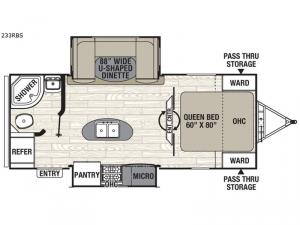 Freedom Express 233RBS Floorplan Image